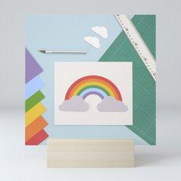 Paper rainbow Mini Art Print