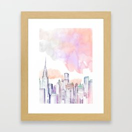 Pastel NYC Framed Art Print
