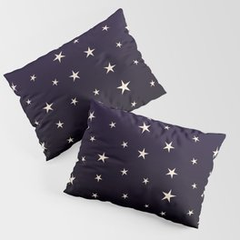Large Stars In Purple Space Pillow Sham