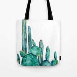 cactus jungle watercolor painting Tote Bag