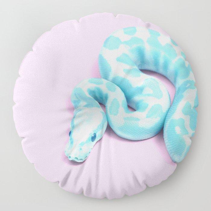 BLUE SNAKE Floor Pillow