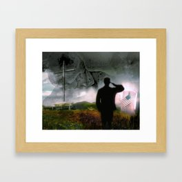 None So Beautiful As The Brave Framed Art Print
