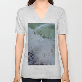 Aquamarine Waves Unisex V-Neck
