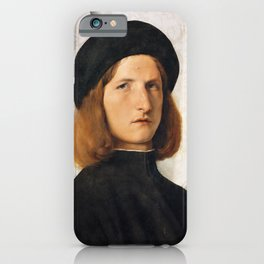 Lorenzo Lotto - Portrait of a Young Man with a Lamp iPhone Case