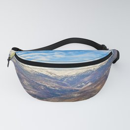 Alpes Mountains Aerial View Piamonte District Italy Fanny Pack