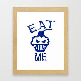 Eat Me (Blue Version) Framed Art Print