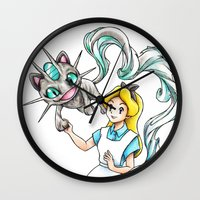 projectrocket Wall Clocks featuring I'm not all there Myself by Randy C