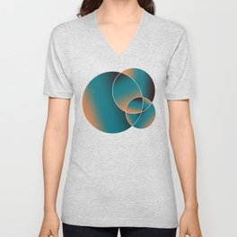 Abstract Circles Unisex V-Neck