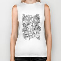 angels Biker Tanks featuring ANGELS by TOO MANY GRAPHIX