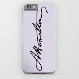 Alexander Hamilton Signature iPhone Case