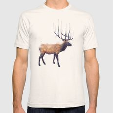 Elk // Reflect (Right) Natural LARGE Mens Fitted Tee