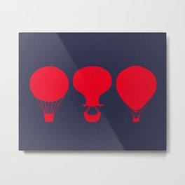 Three Hot Air Balloons Metal Print