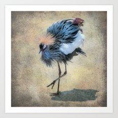 The Dancing Crane Art Print