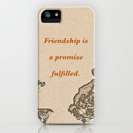 """Catalina Trees #2"" with poem: Simple Friendship iPhone Case"