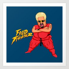 Food Fighter Art Print