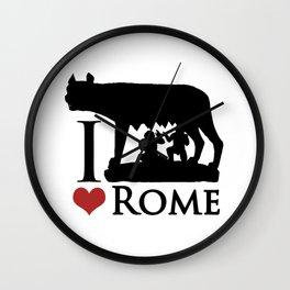 I Love Rome GI Love Rome Graphic Iconraphic Icon Wall Clock