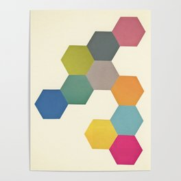 Honeycomb I Poster