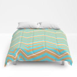 Sparks (orange + blue) Comforters
