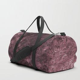 Deep rose violet velvet Duffle Bag