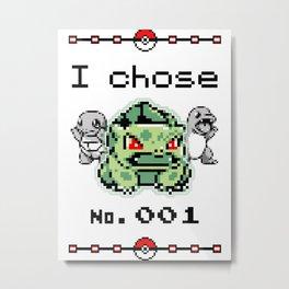 I chose 001 Metal Print