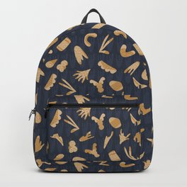 Gray and Yellow Abstract Cut Out Shapes Backpack