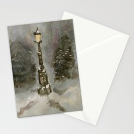 Lamp Post in Blue Stationery Cards