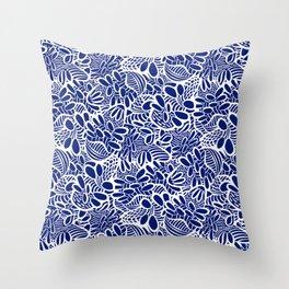 Banksia Blue Throw Pillow