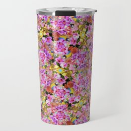 Tropical Tiger And Hibiscus Flowers Travel Mug