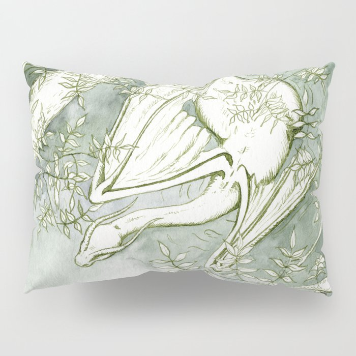 Chaudeleau the Green Marsh Dragon Pillow Sham