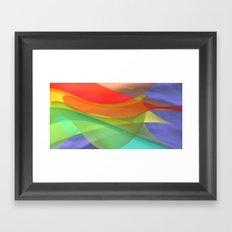 a towel full of colors -15- Framed Art Print