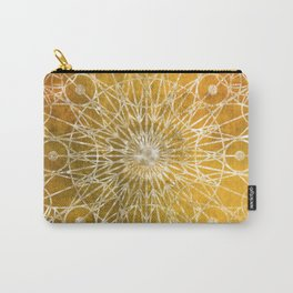 Rosette Window - Yellow Carry-All Pouch