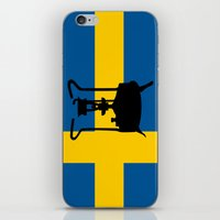 sweden iPhone & iPod Skins featuring Sweden flag | Pressure stove by mailboxdisco