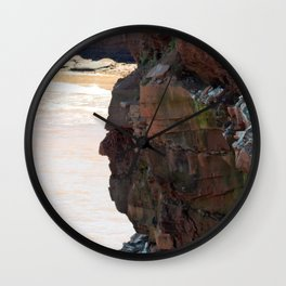Face in the Cliff Wall Clock