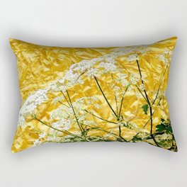 GOLDEN LACE FLOWERS FROM SOCIETY6 BY SHARLESART. Rectangular Pillow