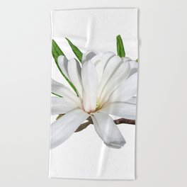 The Flower is the Star (Magnolia) Beach Towel