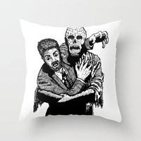 taxi driver Throw Pillows featuring Taxi Driver by Addison Karl