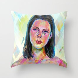Saint shape Throw Pillow