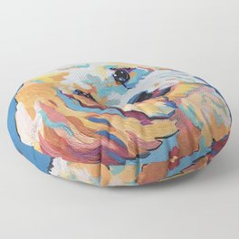 Maltipoo, Cavapoo, Cavachon, Cockerpoo, Mix Breed Custom Pop Art Pet Portrait Floor Pillow