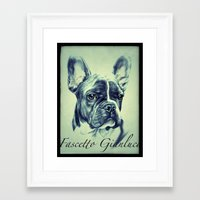 pugs Framed Art Prints featuring Pugs by Gianluca Fascetto Tattooer Painter