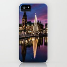 Hamburg Christmas Market iPhone Case