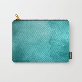 Textured limpet blue chevron pattern Carry-All Pouch