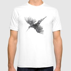Rad's Birds Mens Fitted Tee MEDIUM White