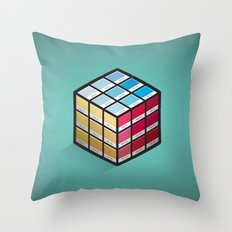 Pancube Throw Pillow