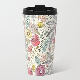 feather fleur watercolor Travel Mug