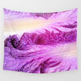 Purple Cabbage Beautiful Abstract Patterns By Nature Wall Tapestry