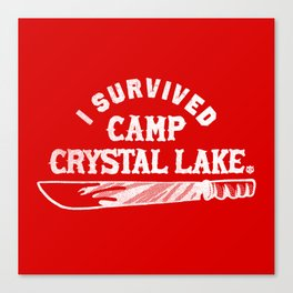 i survived friday the 13th Canvas Print