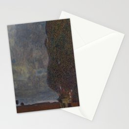 Gustav Klimt - Approaching Thunderstorm (The Large Poplar II) Stationery Cards
