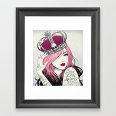 Save The Queen Framed Art Print