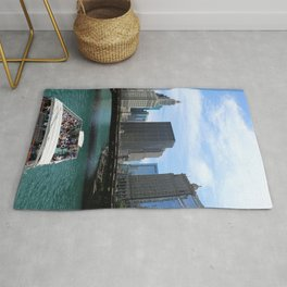 A Riverboat On Chicago River Rug