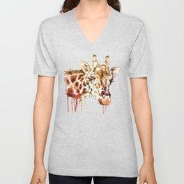 Giraffe Head Unisex V-Neck